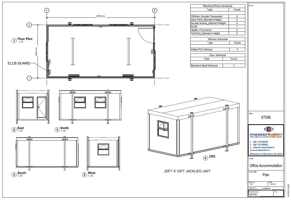 ST096 - 20ft x 10ft, Jackleg Unit